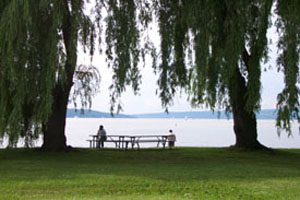 Cayuga Lake as seen from Stewart Park